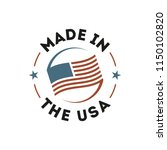made in the usa label | Shutterstock .eps vector #1150102820