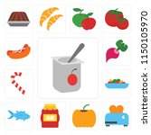 set of 13 simple editable icons ... | Shutterstock .eps vector #1150105970