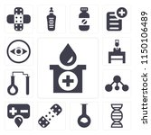 set of 13 simple editable icons ... | Shutterstock .eps vector #1150106489