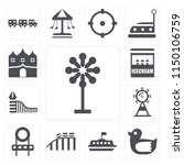 set of 13 simple editable icons ...   Shutterstock .eps vector #1150106759