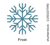 frost icon vector isolated on... | Shutterstock .eps vector #1150107590