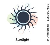 sunlight icon vector isolated... | Shutterstock .eps vector #1150107593