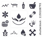 set of 13 simple editable icons ... | Shutterstock .eps vector #1150108793