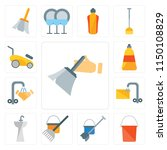 set of 13 simple editable icons ... | Shutterstock .eps vector #1150108829