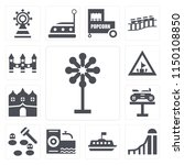 set of 13 simple editable icons ...   Shutterstock .eps vector #1150108850