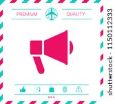 speaker  bullhorn icon | Shutterstock .eps vector #1150112333