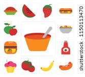 set of 13 simple editable icons ... | Shutterstock .eps vector #1150113470