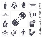 set of 13 simple editable icons ... | Shutterstock .eps vector #1150114259