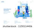 human resources  recruitment...   Shutterstock .eps vector #1150114406