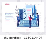 human resources  recruitment... | Shutterstock .eps vector #1150114409