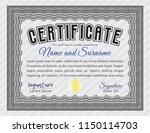 grey sample diploma. superior... | Shutterstock .eps vector #1150114703