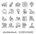 set of 20 icons such as buoy ...