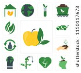 set of 13 simple editable icons ... | Shutterstock .eps vector #1150117673