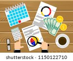 financial audit  analysis of... | Shutterstock .eps vector #1150122710