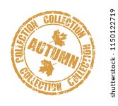 autumn collection rubber stamp... | Shutterstock .eps vector #1150122719