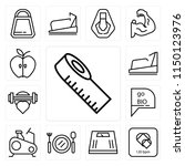 set of 13 simple editable icons ... | Shutterstock .eps vector #1150123976