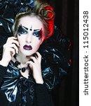 dark beautiful gothic princess... | Shutterstock . vector #115012438