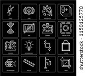 set of 16 icons such as crop ...
