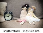 two rag dolls are licked on the ...   Shutterstock . vector #1150136126