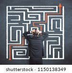 problem and challenge concept.... | Shutterstock . vector #1150138349