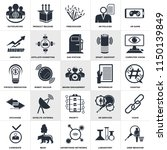 set of 25 simple editable icons ... | Shutterstock .eps vector #1150139849
