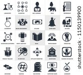 set of 25 simple editable icons ... | Shutterstock .eps vector #1150139900