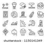 set of 20 icons such as... | Shutterstock .eps vector #1150141349