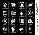 set of 16 icons such as... | Shutterstock .eps vector #1150141376