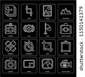 set of 16 icons such as switch...
