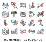 set of 20 icons such as car ... | Shutterstock .eps vector #1150141403