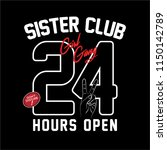 sister club 24 hour open... | Shutterstock .eps vector #1150142789