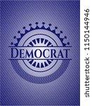 democrat badge with denim... | Shutterstock .eps vector #1150144946