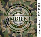 ambient on camouflaged pattern | Shutterstock .eps vector #1150145189