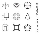 set of 9 simple editable icons... | Shutterstock .eps vector #1150146899