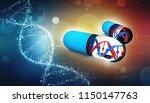 genetic medicine with dna...   Shutterstock . vector #1150147763