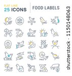 set of vector line icons of... | Shutterstock .eps vector #1150148063