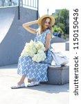 a wonderful  beautiful girl on... | Shutterstock . vector #1150150436