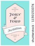 wedding invitation. vintage... | Shutterstock .eps vector #1150153376