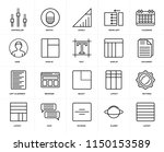 set of 20 icons such as layout  ...