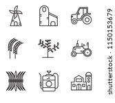 set of 9 simple editable icons... | Shutterstock .eps vector #1150153679