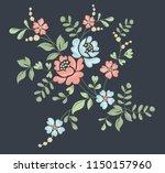 flower motif sketch for design | Shutterstock .eps vector #1150157960