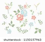 flower motif sketch for design | Shutterstock .eps vector #1150157963