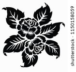 flower motif sketch for design | Shutterstock .eps vector #1150158059