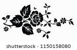 flower motif sketch for design | Shutterstock .eps vector #1150158080