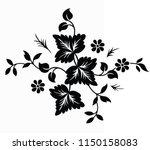 flower motif sketch for design | Shutterstock .eps vector #1150158083