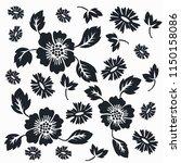 flower motif sketch for design | Shutterstock .eps vector #1150158086