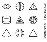set of 9 simple editable icons... | Shutterstock .eps vector #1150158560