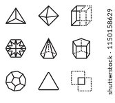 set of 9 simple editable icons... | Shutterstock .eps vector #1150158629