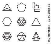 set of 9 simple editable icons... | Shutterstock .eps vector #1150158683