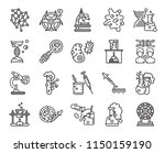 set of 20 icons such as samples ...